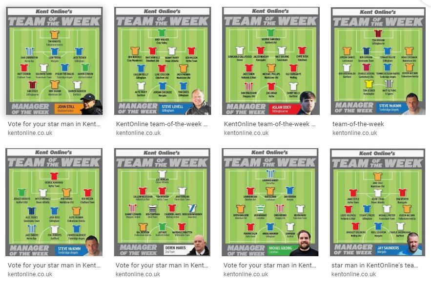 kent online team of the week