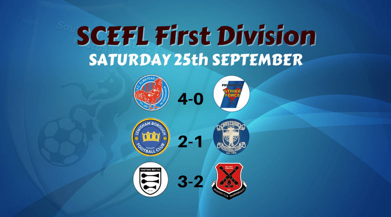 First Division – Saturday 25th September
