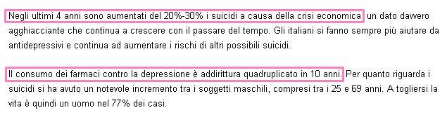 SUICIDI E CONSUMO PSICOFARMACI