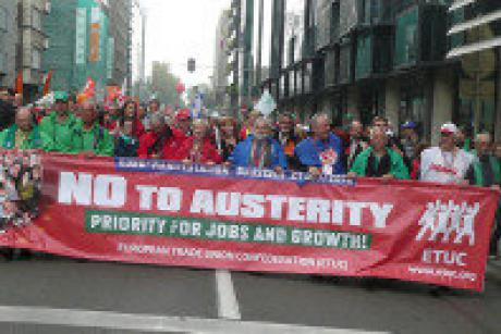 Austerity protest small