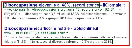 disoccupazione italia