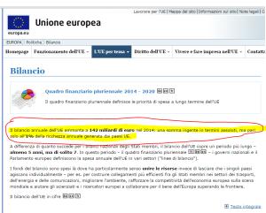 Cattura bilancio UE