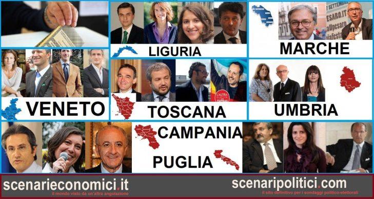 Elezioni Regionali 2015: candidati, liste, sondaggi e situazione nella sfida delle 7 Regioni