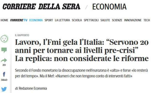 """FireShot Screen Capture #157 - 'Lavoro, l'Fmi gela l'Italia_ """"Servono 20 anni per tornare ai livelli pre-crisi"""" La replica_ non considerate le riforme - Corriere_it' - www_corriere_it_economia_15_lugli"""