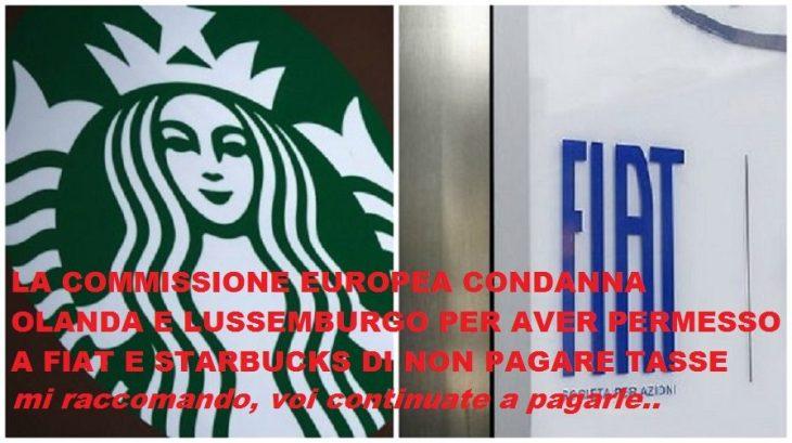 Fiat Finance and Trade e Starbucks : condanna della Commissione per aiuti di stato illegali.