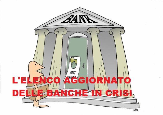 QUALI SONO LE BANCHE IN AMMINISTRAZIONE STRAORDINARIA IN ITALIA ?