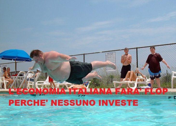L'ITALIA  AMMALATA NON PUO' CRESCERE PERCHE' NESSUNO INVESTE