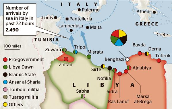 Libia-mapa-ISIS