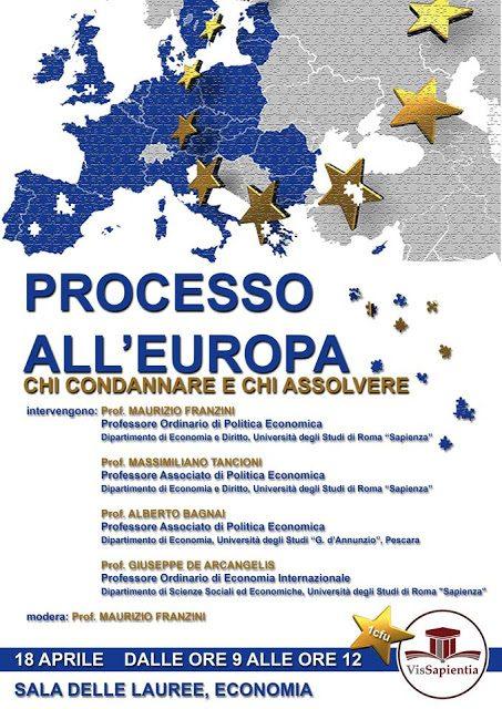 """PROCESSO ALL'EUROPA: convegno all'università """"La Sapienza"""" – Roma"""