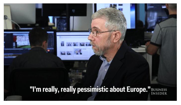 PAUL KRUGMAN : MOLTI, MOLTI ANNI DI MISERIA ATTENDONO L'EUROPA