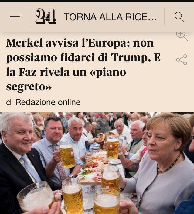 E' LA FINE, LA MERKEL HA UN PIANO SEGRETO PER L'EUROPA di A.M. Rinaldi
