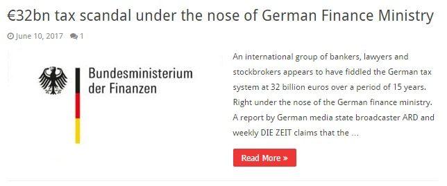Pericoloso mettersi contro gli USA… In Germania scoperti €32 mld di evasione. Che farà Berlino, salverà le sue elites o chiederà loro di pagare come fa con Grecia ed Italia?