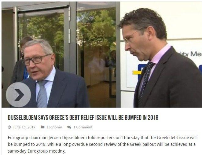 Il vero motivo per cui il taglio del debito greco è stato spostato al 2018: per far prima arrivare la Troika in Italia, la vera gallina da spennare (politici italiani, attenti…)