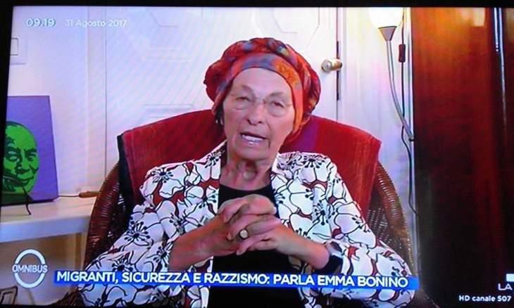 """EMMA BONINO A LA7: """"IMPERATIVO INTEGRARE E DARE LAVORO A 500.000 MIGRANTI"""""""