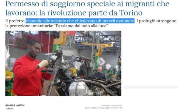 Confindustria si lamenta perchè i giovani italiani emigrano, ma approva l'invasione dei migranti ...
