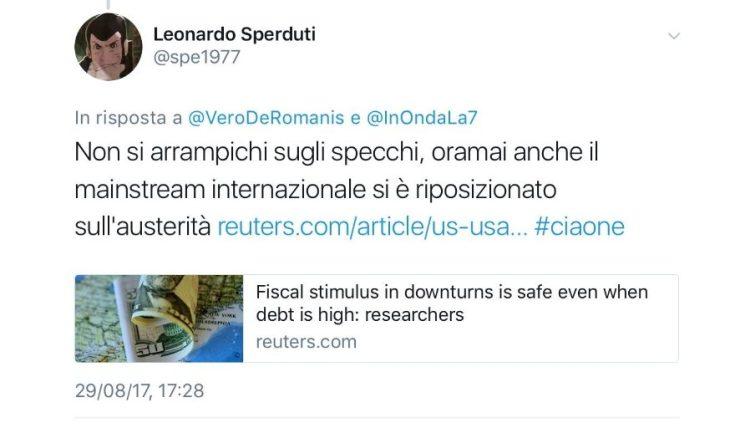 VERONICA DE ROMANIS E IL DUELLO RUSTICANO NEL NOME DELL'AUSTERITA'