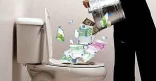 CHI STA BUTTANDO DECINE DI MIGLIAIA DI EURO NEL CESSO IN SVIZZERA ?