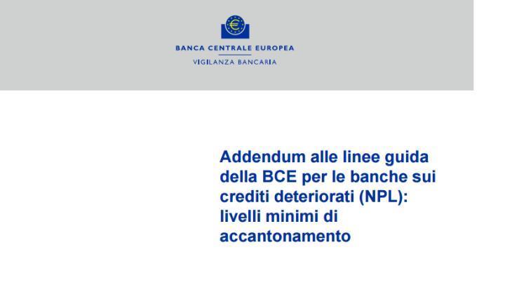 ADDENDUM: PIETRA TOMBALE PER IL SISTEMA BANCARIO ITALIANO, O OCCASIONE PER LIBERARSI IN MODO DEFINITIVO DELLA BCE?