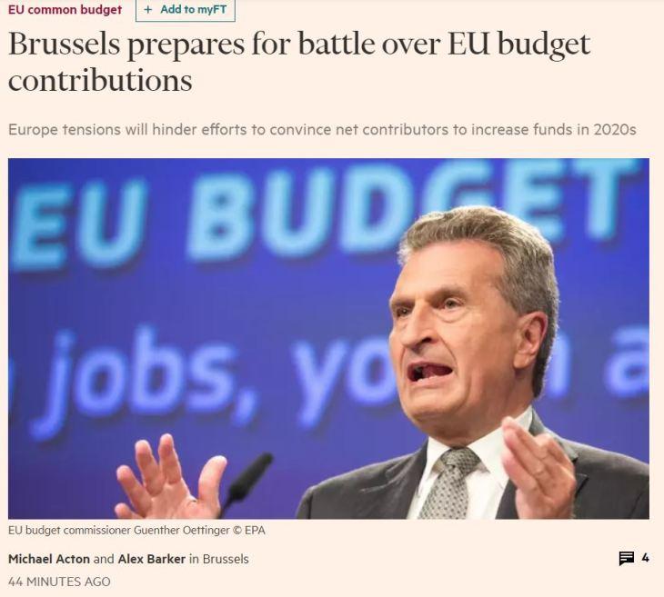 Contributi UE: stangata in arrivo per l'Italia