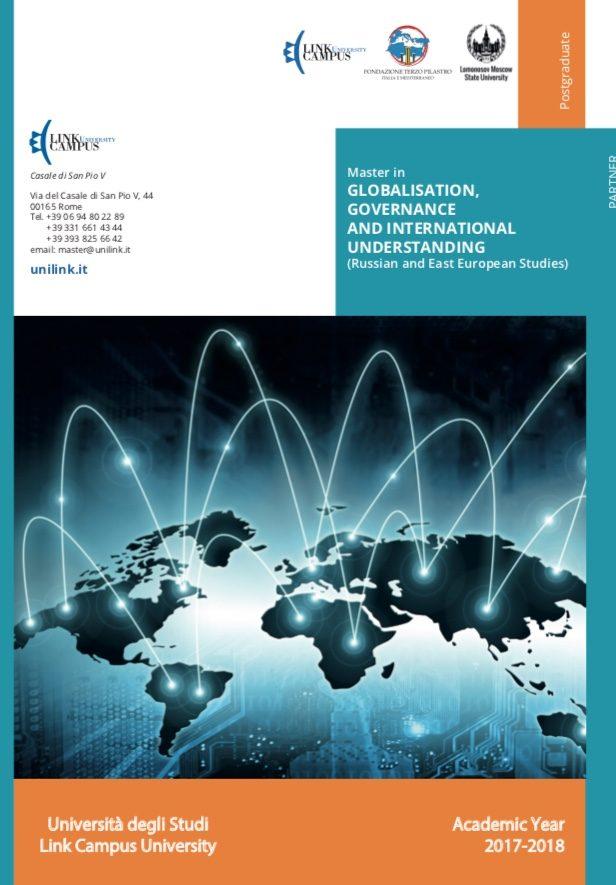 Master in GLOBALISATION, GOVERNANCE AND INTERNATIONAL UNDERSTANDING