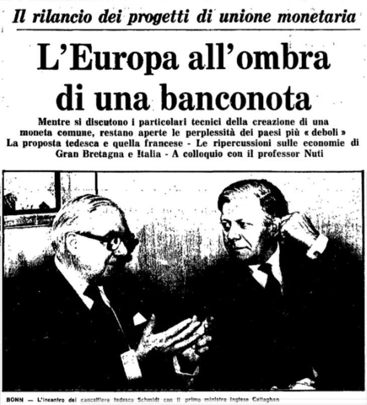 QUANDO SULL'UNITÀ DELL'EURO RACCONTAVANO LA VERITÀ