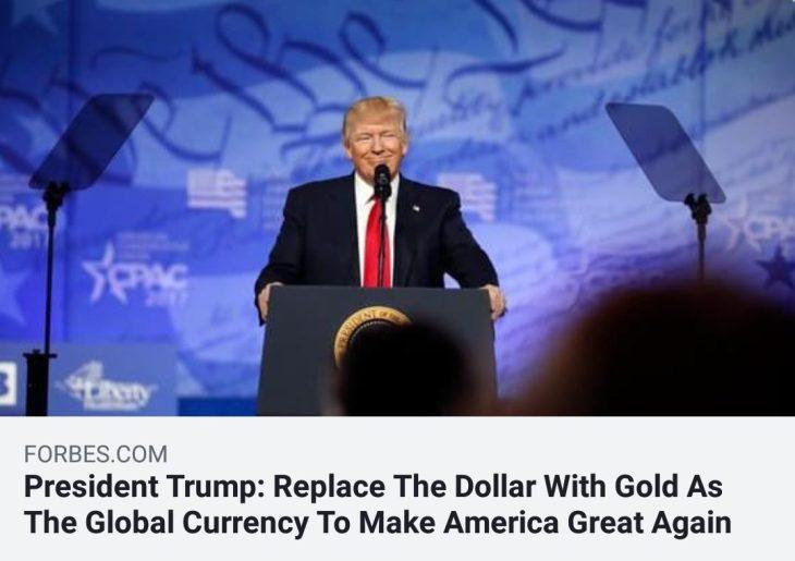 ANCORA SU TRUMP E IL NUOVO GOLD-DOLLAR