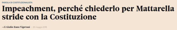Il difetto di obiettività del Sole 24 Ore sull'impeachment su Mattarella: questa volta la faccenda è grave (encore, il giornalista è consulente di Open Society/George Soros)