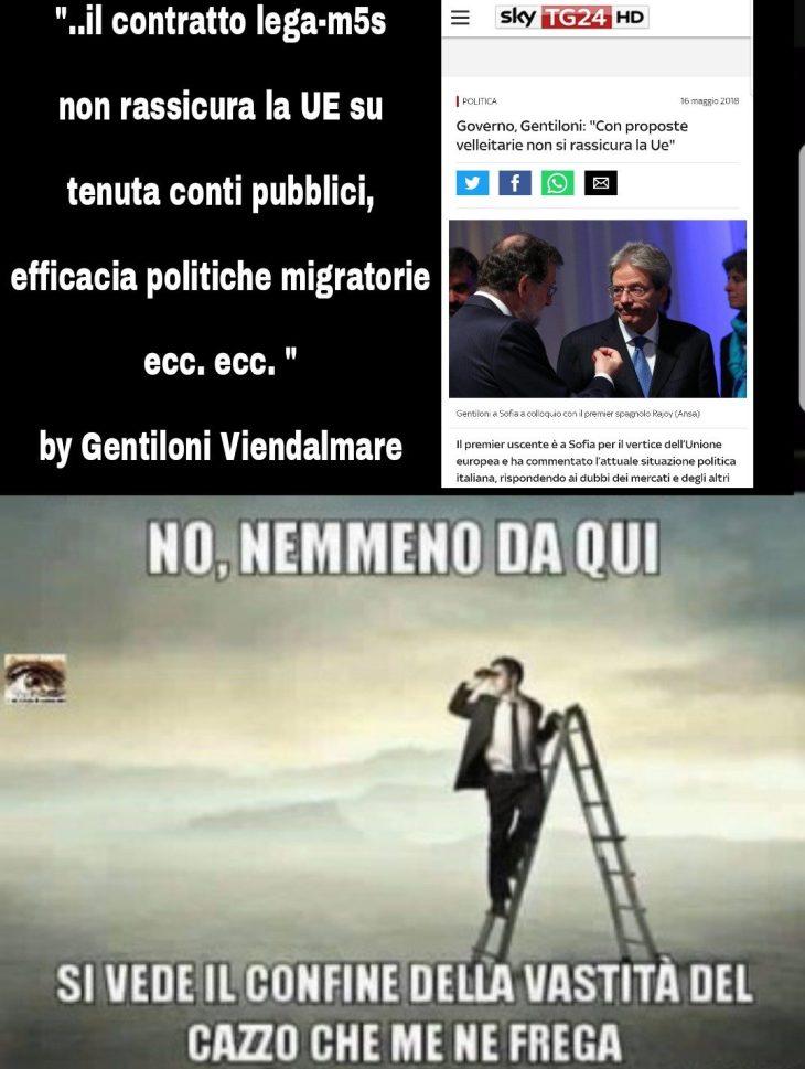 """GENTILONI: """"IN EUROPA SONO PREOCCUPATI PER IL PROGRAMMA DEI GIALLOVERDI"""""""