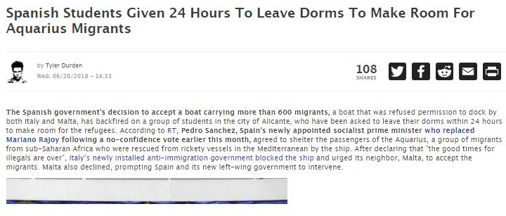 Arriba Espana! Sanchez sgombera studenti paganti (senza preavviso) per far posto ai migranti