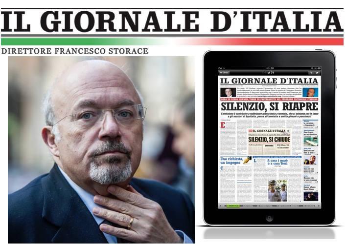Storace lascia la direzione del Giornale d'Italia. Una brutta notizia (di Giuseppe PALMA)
