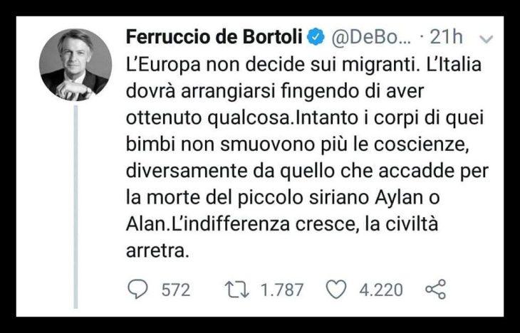 DE BORTOLI E LA DIVINA INDIFFERENZA A SENSO UNICO