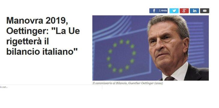 Oettinger: il commissario dalla Bocca Larga