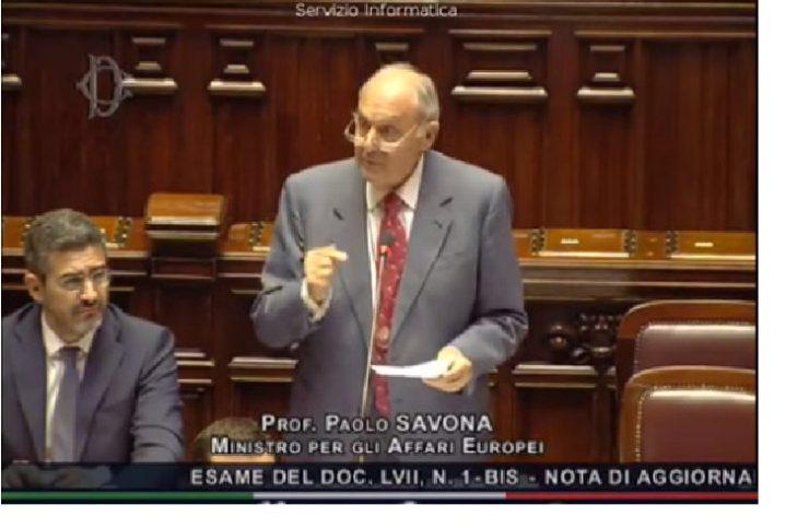 L'intervento del Ministro Paolo Savona sulla Manovra Finanziaria. Un New Deal per l'Italia unita, per la crescita, contro la povertà. DA ASCOLTARE