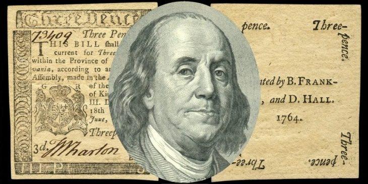 Le monete coloniali in America prima dell'indipendenza degli USA: la cartamoneta era il segreto della loro ricchezza