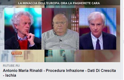 """Rinaldi a Stasera Italia: procedura di infrazioni, quali limiti, """"Europa Anomala"""" e fanatica, mutui e caso Ischia"""