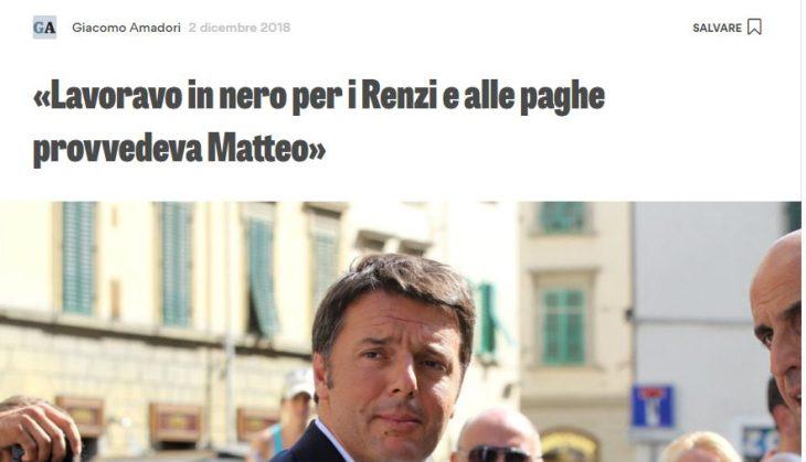 """""""Lavoravo in Nero per i Renzi, mi pagava Matteo"""". Ecco la verità sull'Ex Leader del PD"""