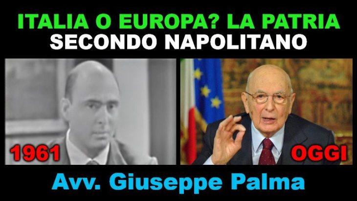 Quando Giorgio Napolitano era sovranista. Correva l'anno 1961 (intervista-audio a G. Palma)