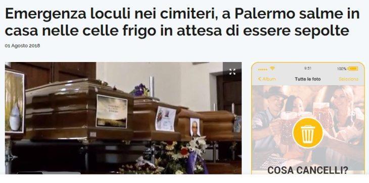 Orlando vuole aprire i porti, e non riesce neanche a chiudere le tombe!! Lo scandalo delle sepolture a Palermo