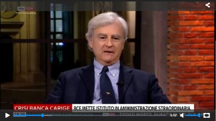 Rinaldi a SkyEconomia: Carige, e Flat Tax