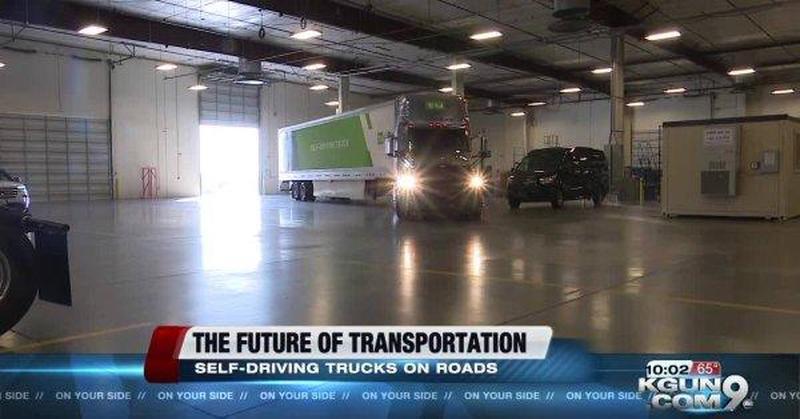 Le Poste USA stanno testando TIR a guida autonoma (Video)