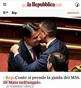 CONTE: COME DISTRUGGERE IL MOVIMENTO ED ASSERVIRLO AL PD