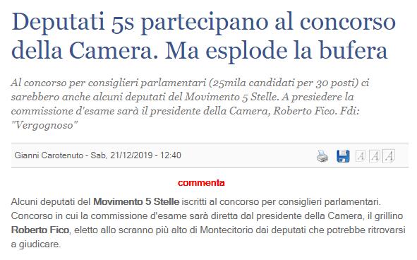 SALVIAMO L'ITALIA CON UNA COLLETTA: diamo una liquidazione ai pentastellati