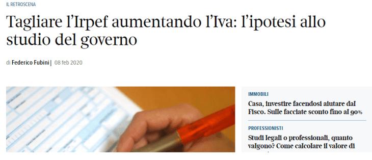 RAPINA SULL'IVA: altro che salvaguardia, si preparano all'aumento con truffa inclusa