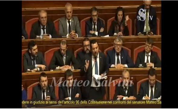 IL CASO SALVINI AL SENATO, CON AUTORIZZAZIONE A PROCEDERE: interventi completi di Buongiorno, Gasparri e Salvini