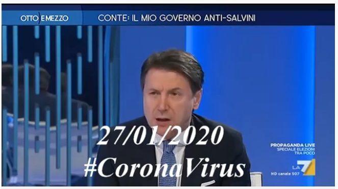 CONTE: L'ITALIA E' PRONTA AL CORONAVIRUS. Quello che diceva Giuseppi neppure due mesi fa