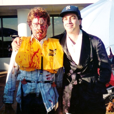 Halloween 1989 — Me as an airline crash survivor and Rodney as George Steinbrenner