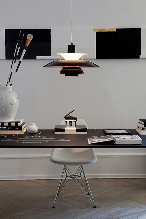 office with PH5 lamp, light fixtures for home staging