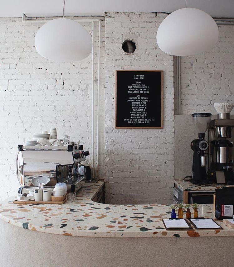 pedant lamps in Hamilton coffee shop Synonym