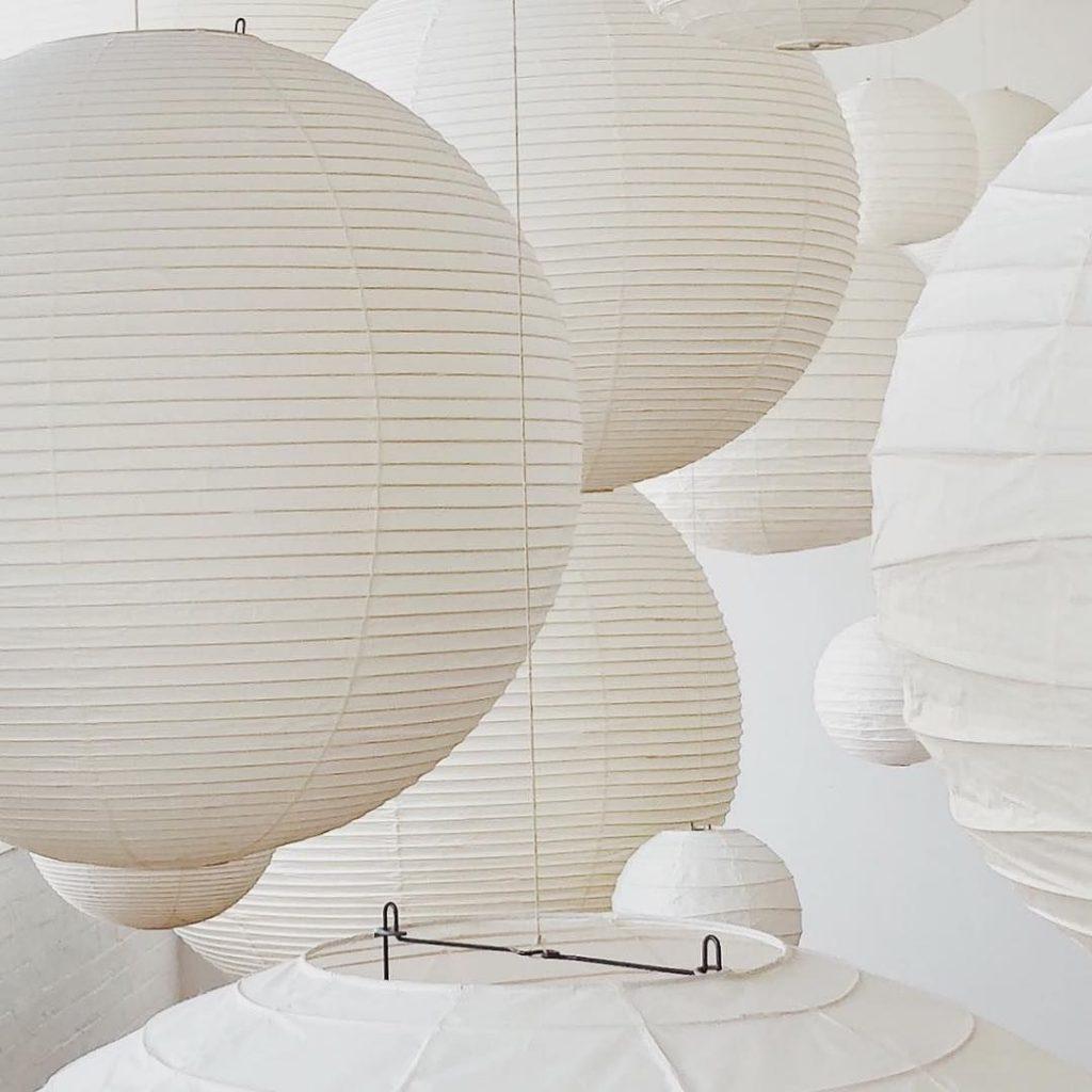 Noguchi lamp sculptures