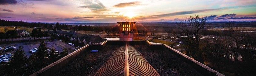 Sunset over South Hall